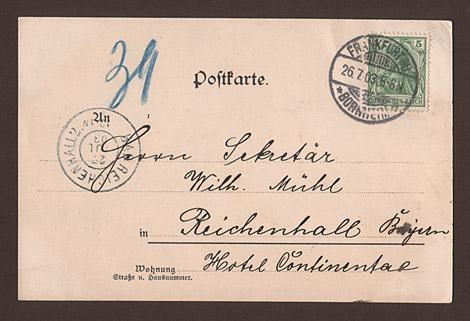 Postkarte: Palmenhaus Frankfurt
