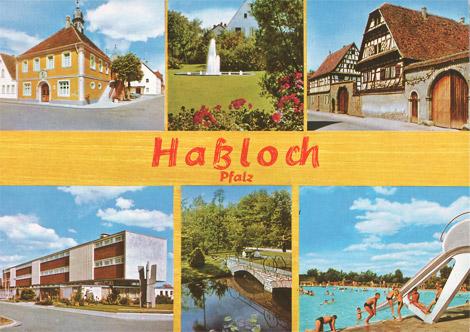 Postkarte: Haßloch/Pfalz